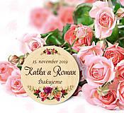 Darčeky pre svadobčanov - Svadobná magnetka - 11194626_