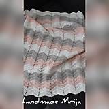 Textil - Háčkovaná detská deka - 11194199_