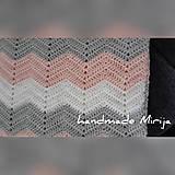 Textil - Háčkovaná detská deka - 11194201_