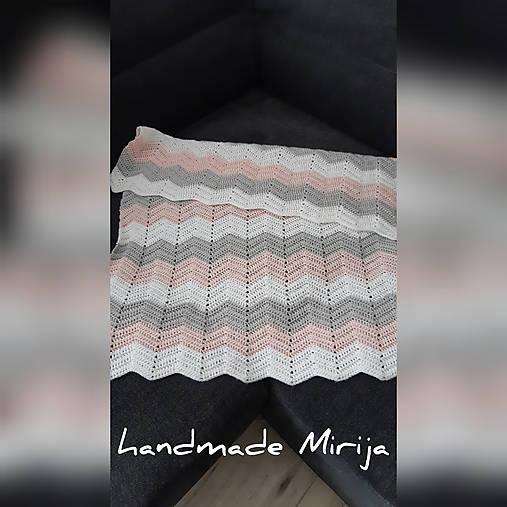Háčkovaná detská deka