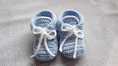 Topánočky - Háčkované tenisky - 11193205_