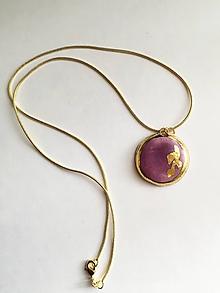 Náhrdelníky - fialový prívesok /keramika/ - 11193797_