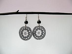 Náušnice - ,,Čierny ornament,, - 11195033_