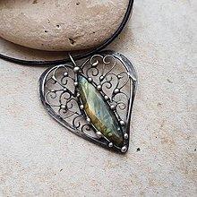 Náhrdelníky - FLORY Heart náhrdelník - 11194718_