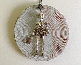 Náhrdelníky - Náhrdelník bábika (Bábika kostra) - 11193004_