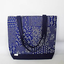 Kabelky - kabelka modrotlač (Modrá) - 11194060_