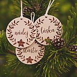 Dekorácie - láska, nádej, šťastie ~ vianočné ozdoby - 11194342_