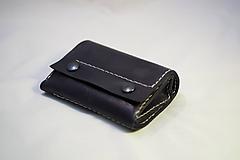 Peňaženky - Kožená peněženka MontMat -černá - 11194592_