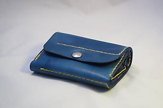 Peňaženky - Kožená peněženka MontMat - modrá - 11194598_
