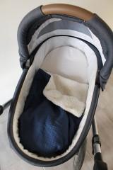 Textil - Detská deka Vafle tmavomodré s imitáciou ovčieho rúna, 12 farieb na výber,100x70cm, - 11192912_