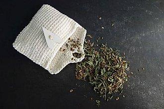 Potraviny - čaj vetropud v háčkovanej taštičke - 11194098_
