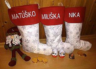 Úžitkový textil - Mikulášske čižmičky s menom - 11195445_