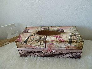 Krabičky - Box na vreckovky vintage - 11193268_