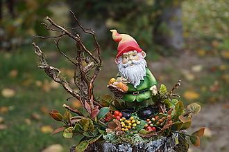 Dekorácie - Jesenná dekorácia - Trpaslík - 11194752_