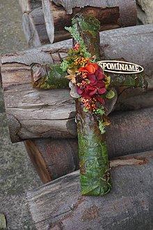 Dekorácie - Krížik na hrob - 11195047_