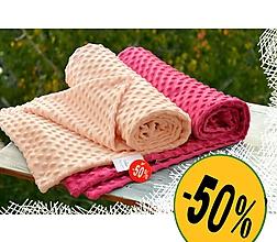 Textil - - 50%  Minky deka 100x75cm ZĽAVA !!! - 11195315_