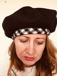 Čiapky - dámska baretka - 11194012_