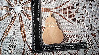 Pomôcky - Jednoduchá drevená podložka (Hruška) - 11193389_