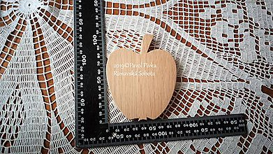 Pomôcky - Jednoduchá drevená podložka (Jablko) - 11193398_