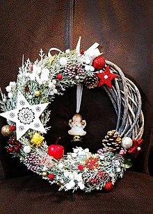 Dekorácie - Vianočný venček prutie na dvere - 11193091_
