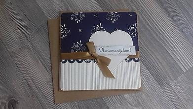 Papiernictvo - ...pohľadnica svadobná... - 11193597_