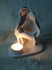 Dekorácie - keramika svietnik Betlehém.. - 11192789_