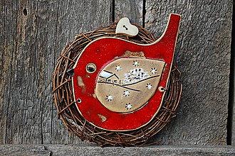 Dekorácie - Vtáčik vo venčeku č. 111 - 11194476_