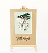 Papiernictvo - vianočná pohľadnica - 11195440_