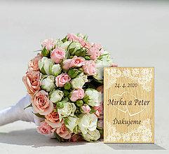 Darčeky pre svadobčanov - Svadobná magnetka - 11195651_
