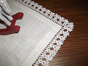Úžitkový textil - *** Biely ľanový obrus Exkluzív *** - 11197307_