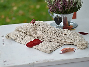 Textil - Letná deka s ĽANOM: béžová - 11196903_