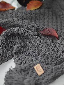 Textil - Letná deka s ĽANOM: hnedá - 11196918_