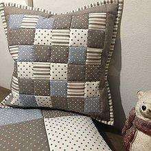 Úžitkový textil - Vzor svetlohnedá so sivou - 11198919_
