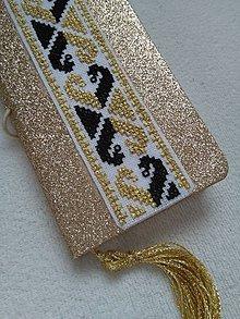 Papiernictvo - Diva (ručne vyšívaný zápisník) - 11197171_