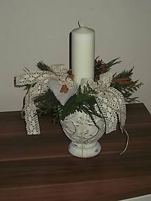 Dekorácie - Adventný  vianočný svietnik - 11198542_