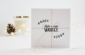 Papiernictvo - Vianočný pozdrav - Šťastné a veselé Vianoce - 11197330_