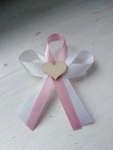 Pierka - Ružové svadobné pierko - 11197958_