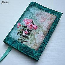 Papiernictvo - Univerzální obal na knihu - French roses II - 11196733_