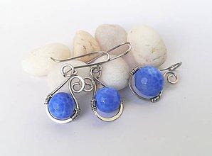 Sady šperkov - Oceľ / Achát - 11198417_