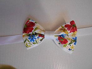 """Doplnky - FLORAL FOLK """" Maky, nevädza a obilné klásky """" svadobný exkluzívny motýlik a vreckovka (chlapčenský detský motýlik) - 11195593_"""