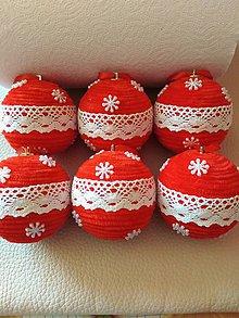 Dekorácie - Vianočné gule - 11198074_