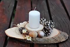Dekorácie - Vianočný svietnik - 11196255_