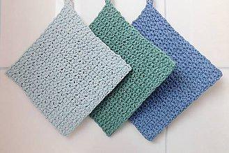 Úžitkový textil - Chňapky (Ľadová modrá) - 11196227_