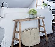 lavica IV. z dubového dreva / konzolový stolík
