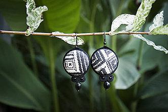 Náušnice - Benedikta - Ručne šité šujtášové náušnice - Soutache earrings - 11195766_