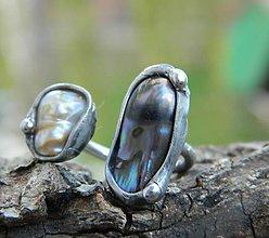 Prstene - 2x biwa /říční perla/ - 11197675_