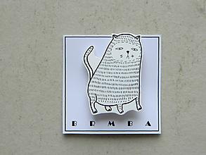 Odznaky/Brošne - Kočičák (chlpatý) - 11199049_