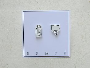 Náušnice - Medveďku, daj labku - 11199130_