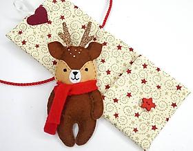 Hračky - Drobnosti v kapsičke Vianoce (Jeleň) - 11196440_