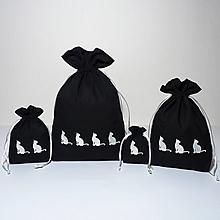 Úžitkový textil - Bavlnené vrecúško vyšívané mačky - 11196070_